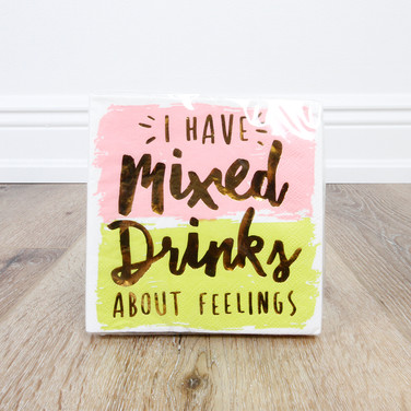 Foil Mixed Drinks About Feelings Beverage Napkin