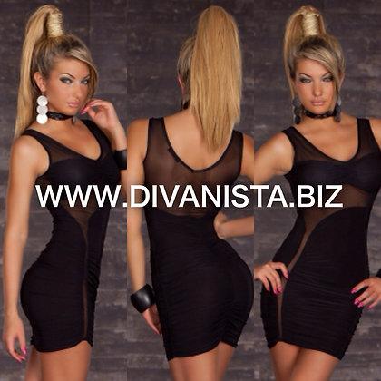 Black Sheer Mesh Dress