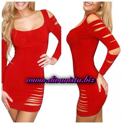 Red Torn Dress