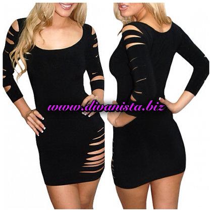 Black Torn Dress