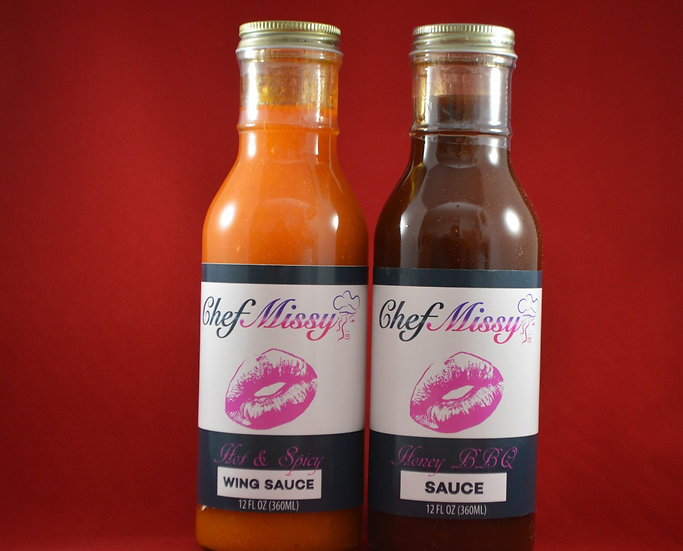 Chef Missy Honey Barbecue & Hot & Spicy Wing Sauce Pack