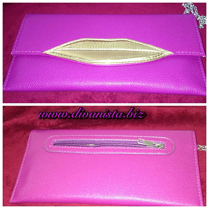 Fuschia Lips Purse/Clutch