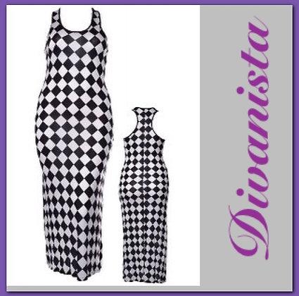 Checkard Maxi Dress