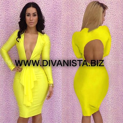 Yellow Crush Dress
