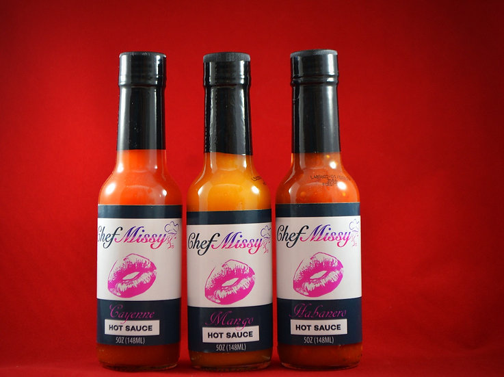 Chef Missy Hot Sauce 3 pack