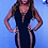 Thumbnail: Red Blush or Black Hollow Out Dress