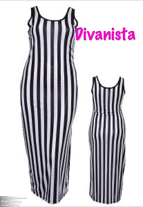 Black/White Stripe Maxi