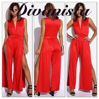 Sexy Red Jumpsuit