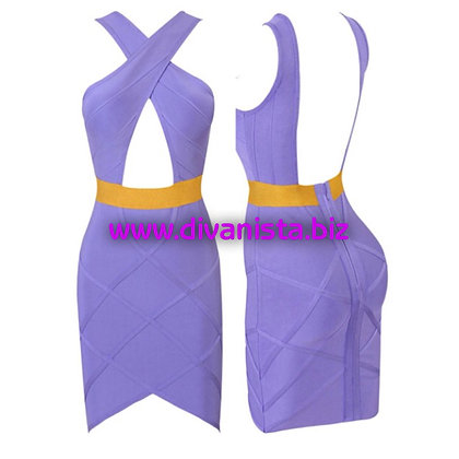 Purple with Yellow Stripe Bandage