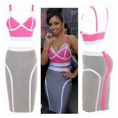 Pink & Grey 2 Piece Bandage Set