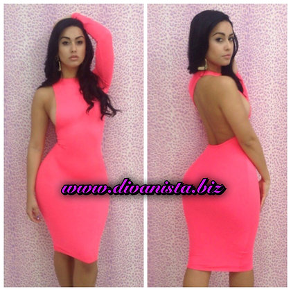 Pink One Shoulder BodyCon