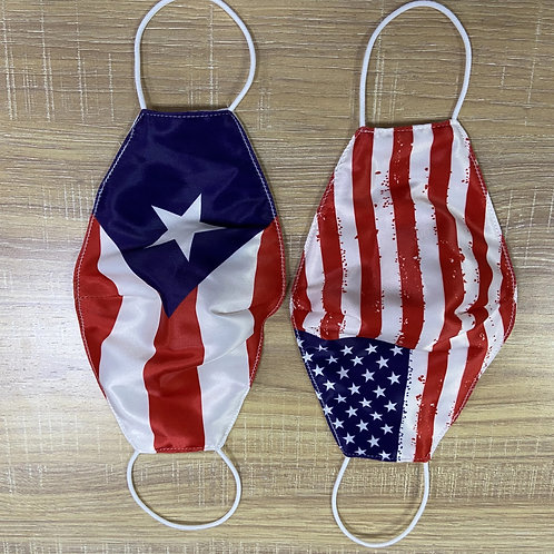 Assorted Flag Woven Mask (100 Pieces)