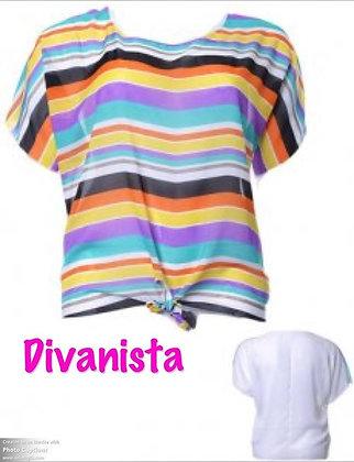 Stripe Rainbow with White Mesh