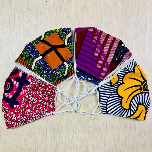 African Print Face Mask (100 Pieces)