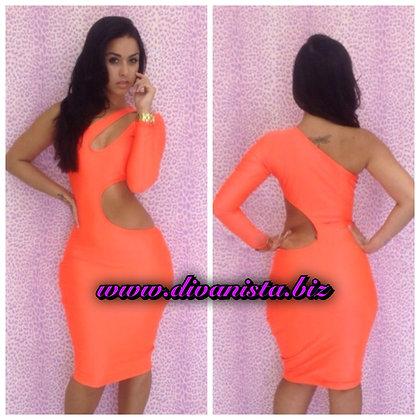 Orange Cut Out Dress