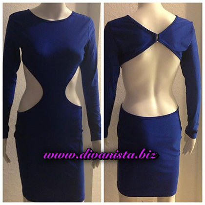 Royal Blue Posh Cut Out Dress