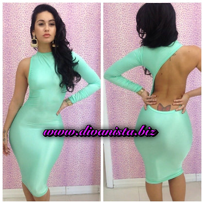 Sky One Shoulder Dress