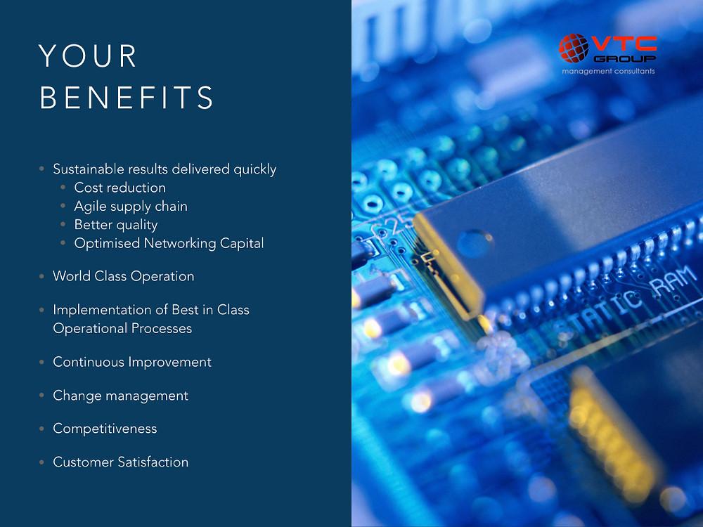 Electronics industry benefits