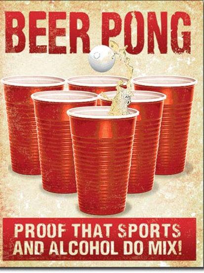Beer Pong Metal Sign #2224