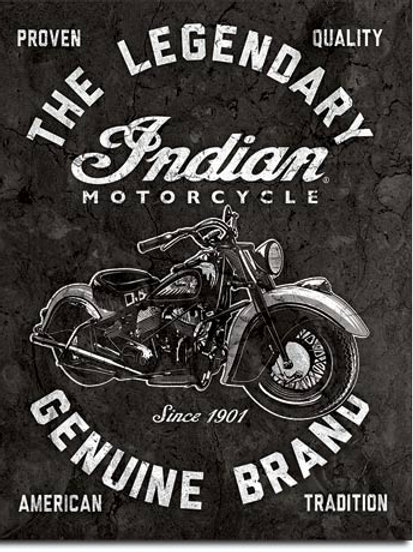Indian Motorcycles Legendary Metal Sign #2300