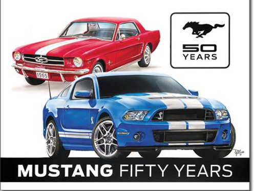 Ford Mustang 50th Metal Sign #1993