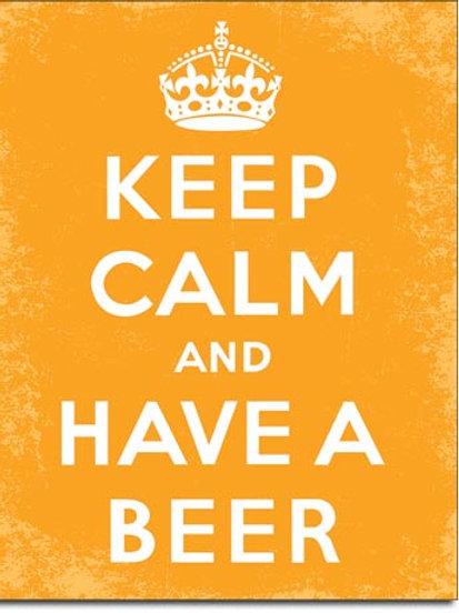 Keep Calm Beer Metal Sign #2257
