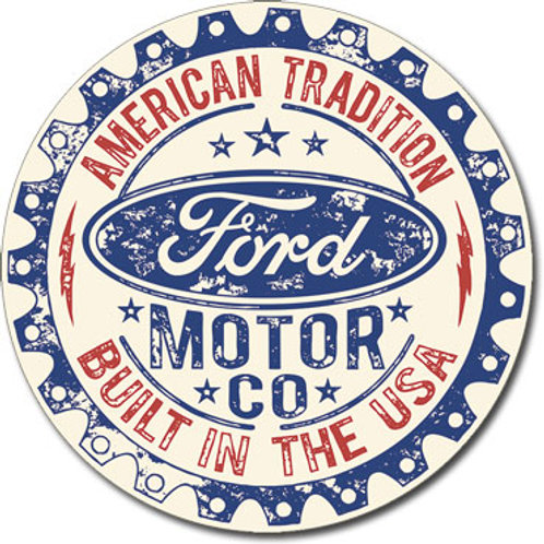Ford - Built in USA Metal Sign #2396