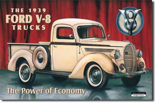 Ford Pickup - 1939 Metal Sign #707