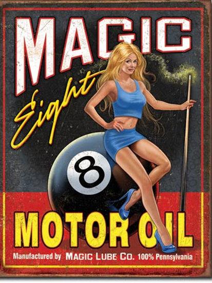 Magic Eight Motor Oil Metal Sign #2121