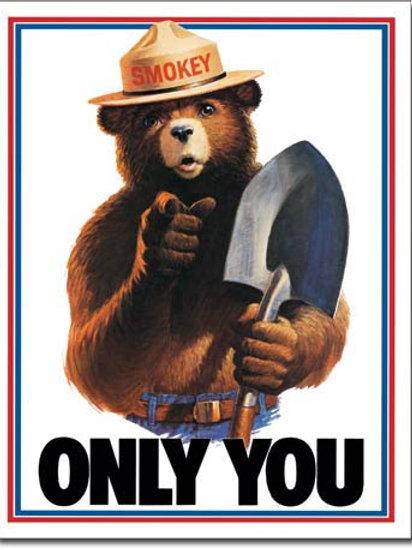 Smokey Bear - Only You Metal Sign #834