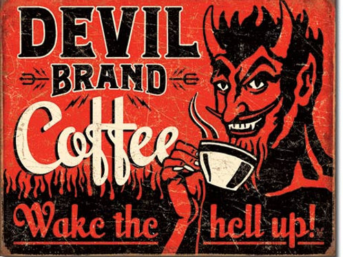 Devil Brand Coffee Metal Sign #2042