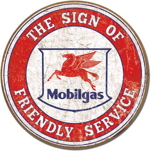 Mobil - Friendly Service Metal Sign #2025