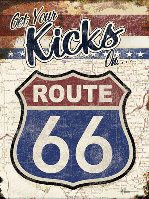 Get Your Kicks on Route 66 Metal Sign #2411