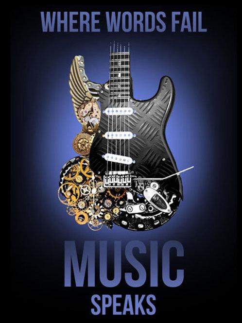 Music Speaks Metal Sign #2408