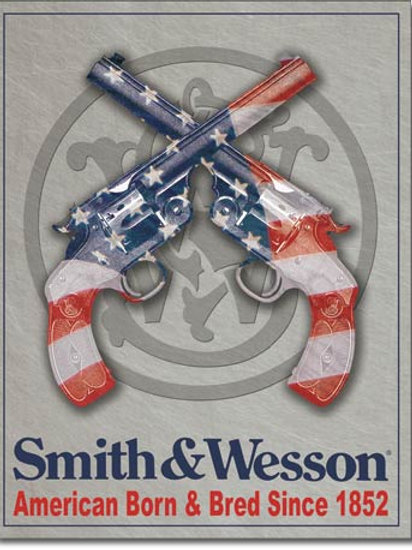 Smith & Wesson American Born Metal Sign #1465