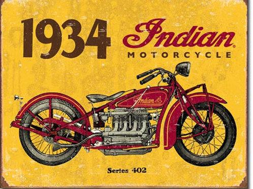 1934 Indian Metal Sign #1929