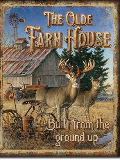 Olde Farmhouse Metal Sign #2093