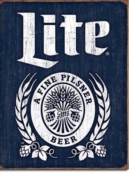 Miller Lite Bottle Logo Metal Sign #2182