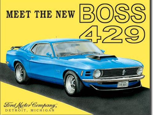 Mustang Boss 429 Metal Sign #703