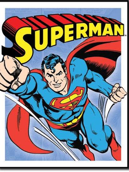 Superman - Retro Panels Metal Sign #1402
