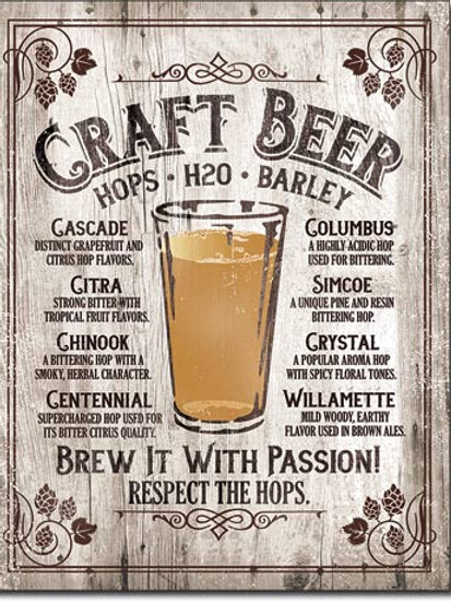 Brew It - Passion Metal Sign #2258
