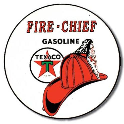 Texaco Fire Chief Metal Sign #204