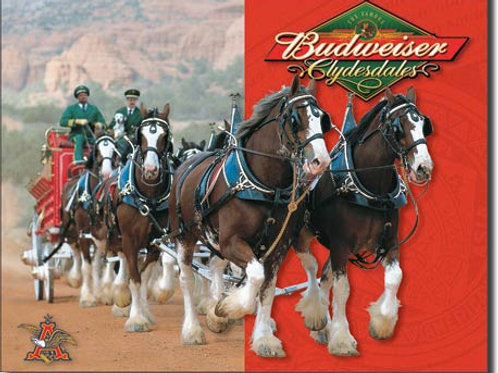Budweiser Clydesdales Metal Sign #1281