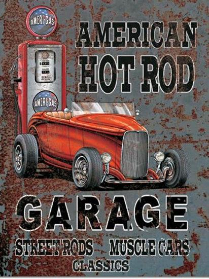 American Hot Rod Metal Sign #1539