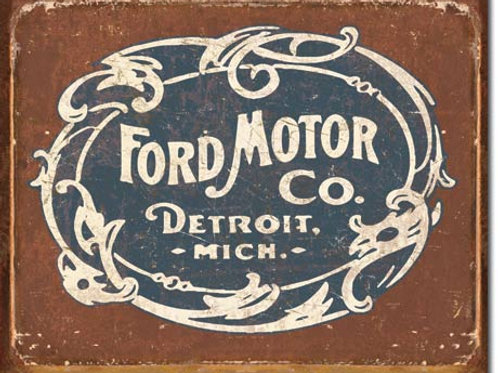 Ford - Historic Logo Metal Sign #1707