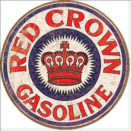 Red Crown Gas Metal Sign #1899