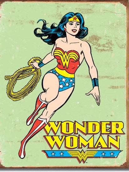 Wonder Woman Retro Metal Sign #1642