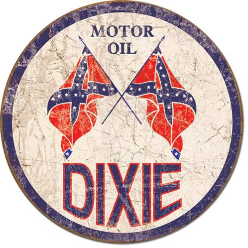 Dixie Gas Metal Sign #1954