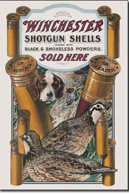 Winchester - Dog & Quail Metal Sign #940