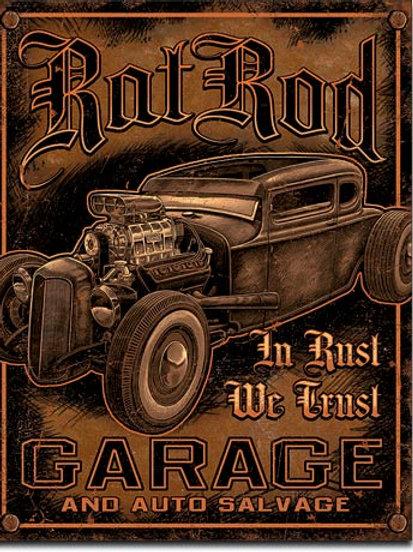 Rat Rod Garage Metal Sign #1895